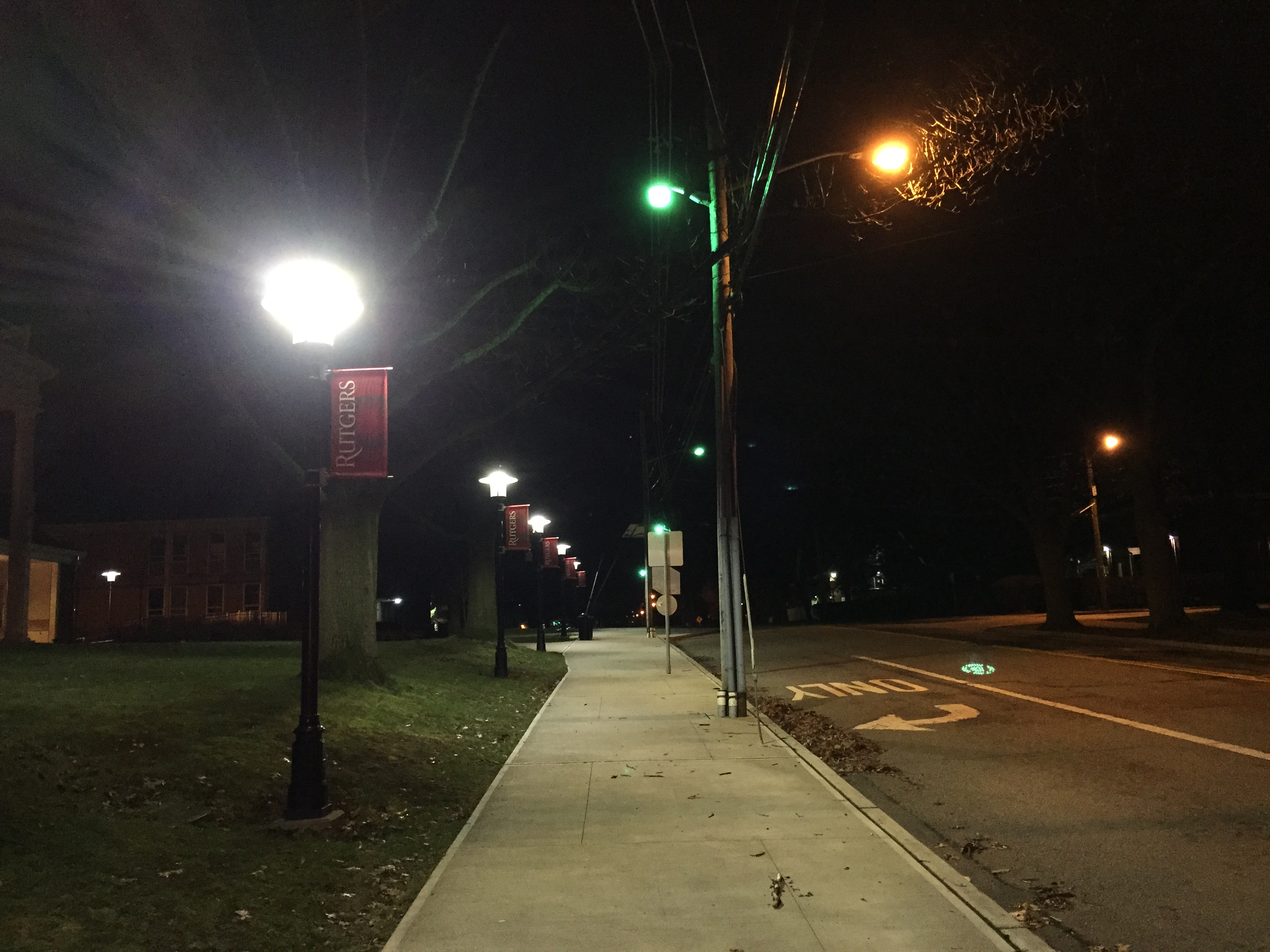 File:2016-01-17 03 01 01 Sidewalk and street lights at ...