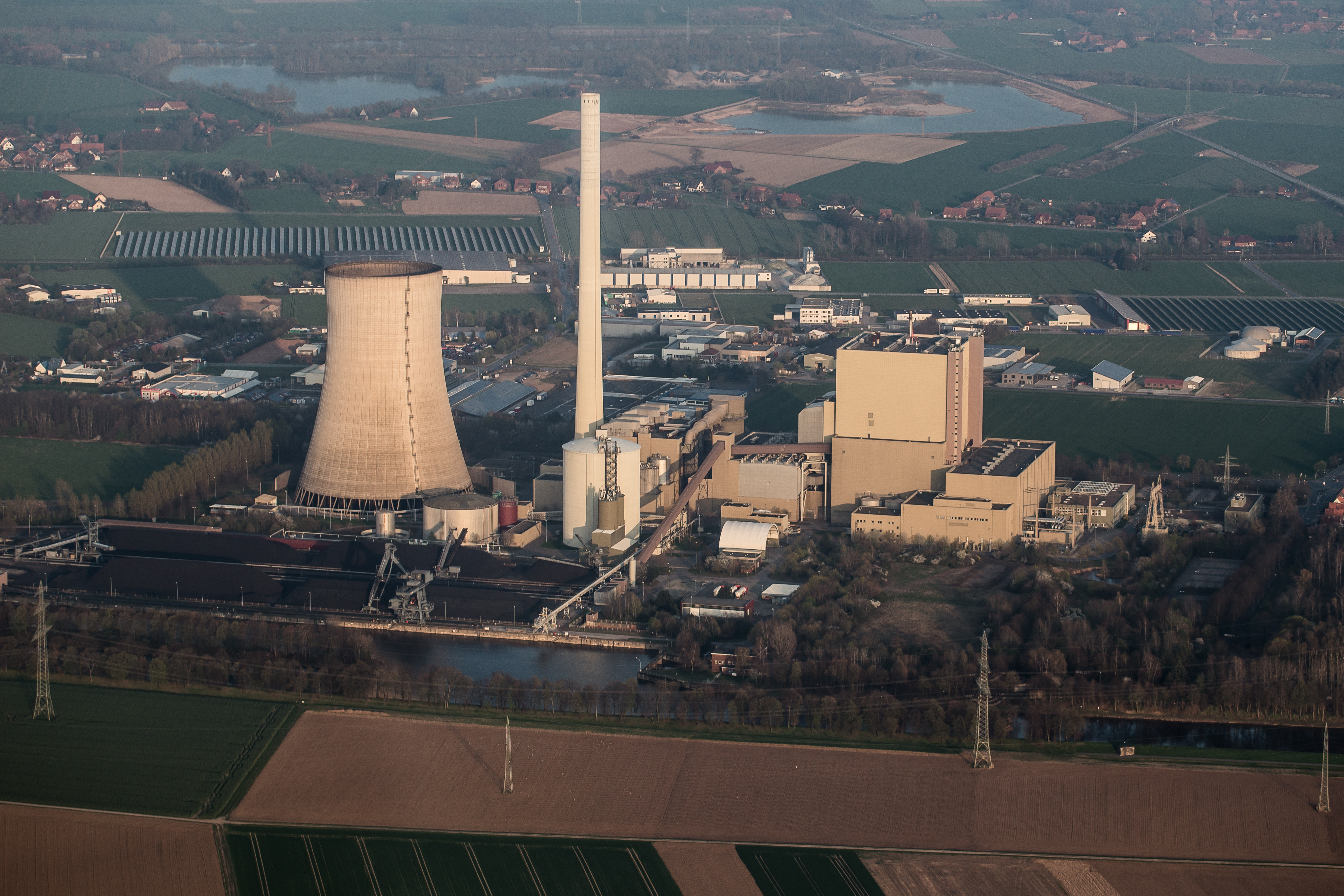 File Aerial coal fired power station Heyden Germany