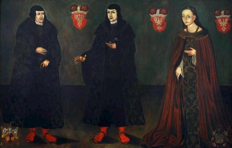 Portrait of Stanisław, Janusz III and Anna, Dukes of Masovia.