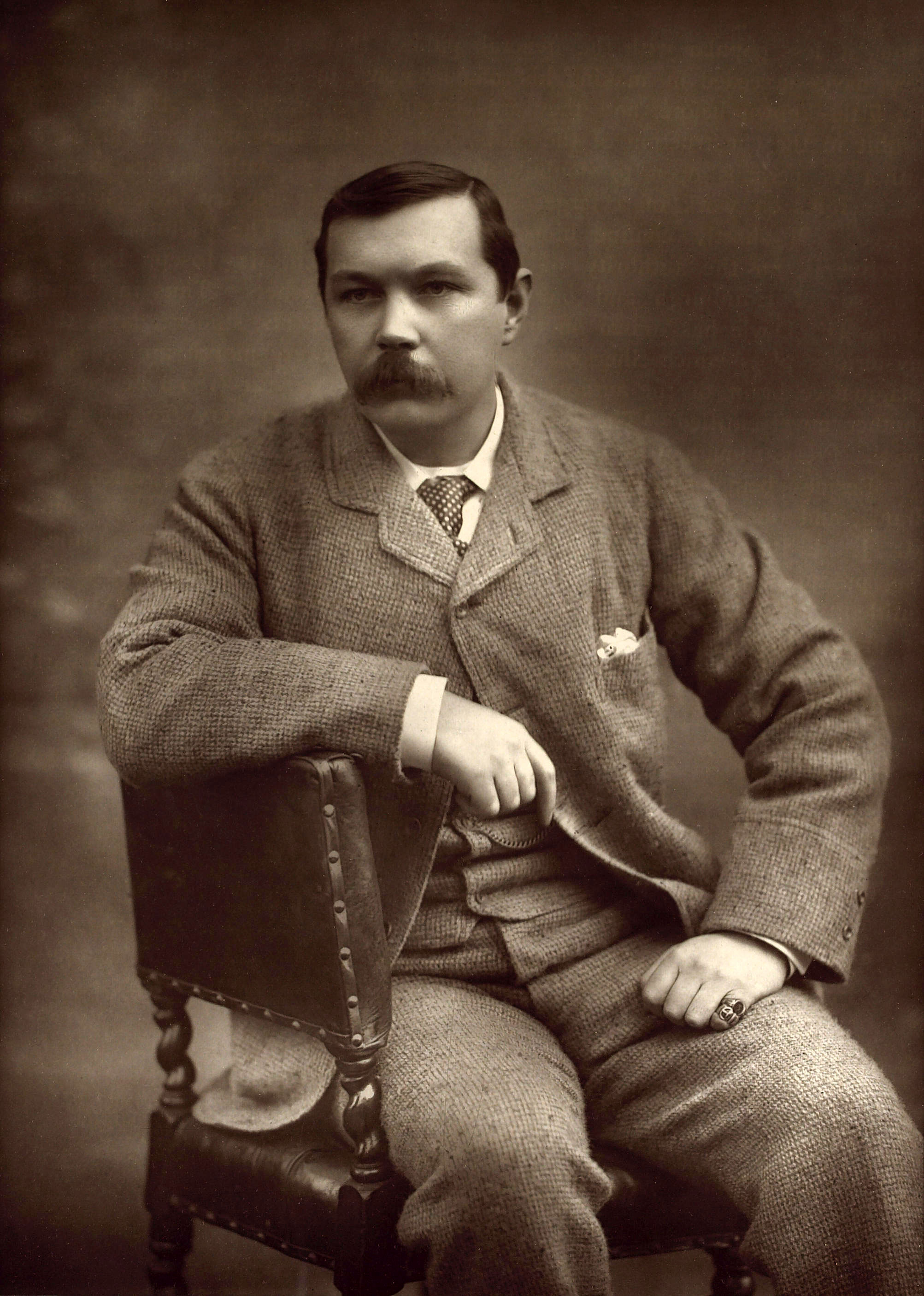 Arthur Conan Doyle by Herbert Rose Barraud 1893