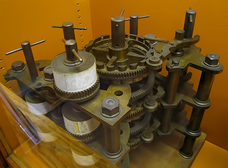 Part of Babbage's difference engine, photographed by Andrew Dunn