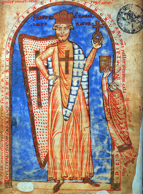 Frederick I, Holy Roman Emperor as crusader.