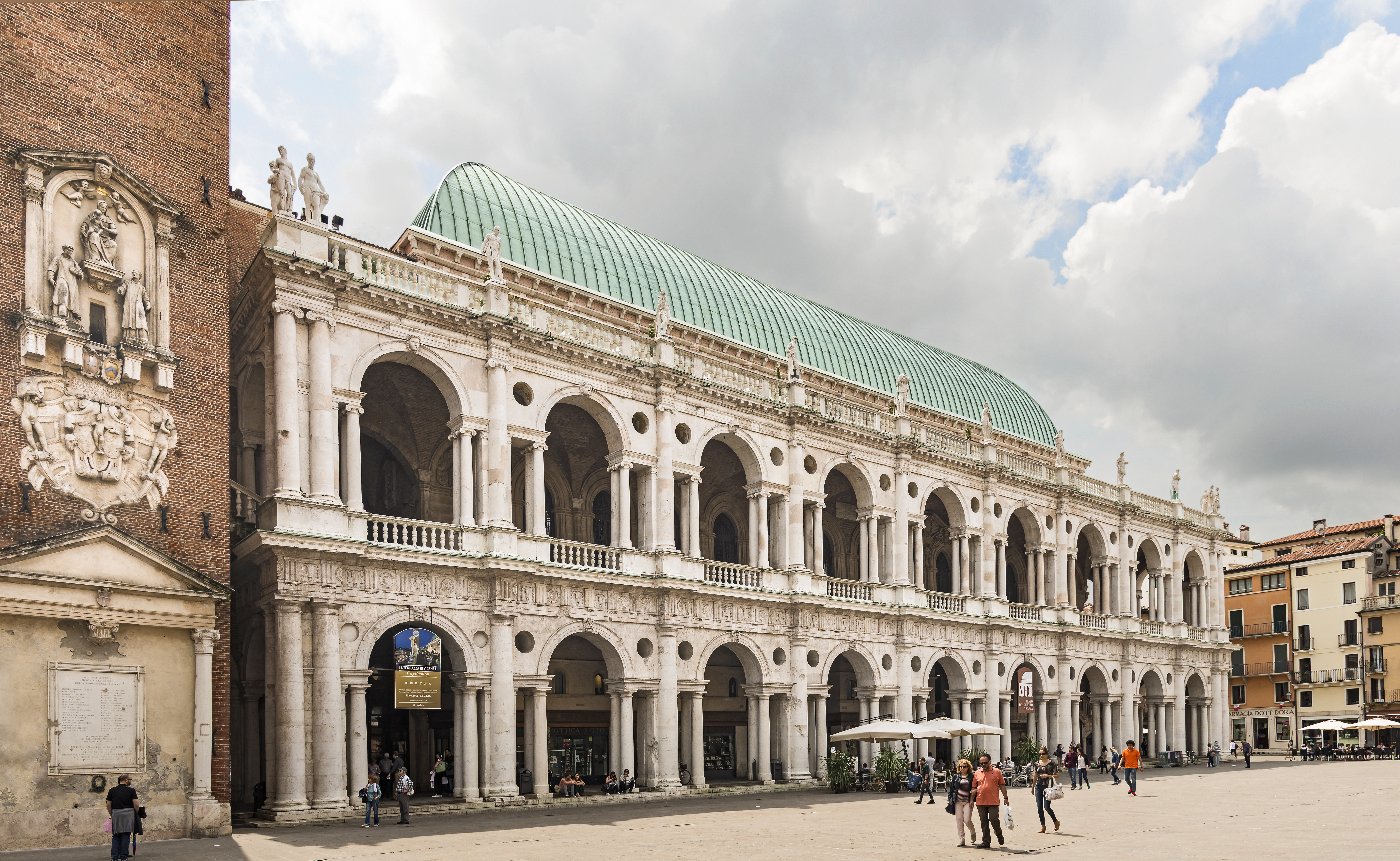 Basilica Palladiana Vicenza facade on Piazza dei signori