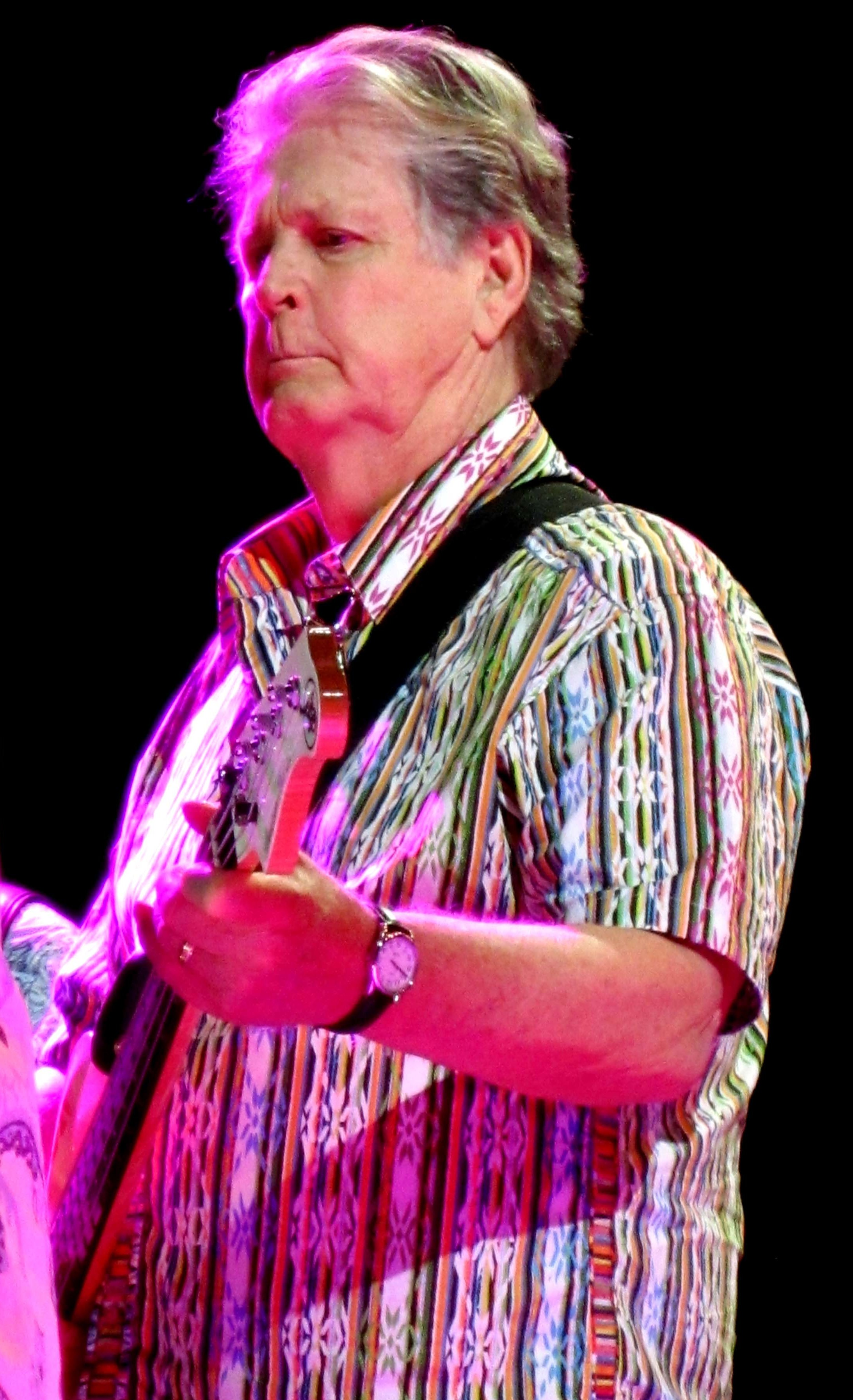 Brian Wilson and Bass 2012 framed by Mike Love (rotated).jpg