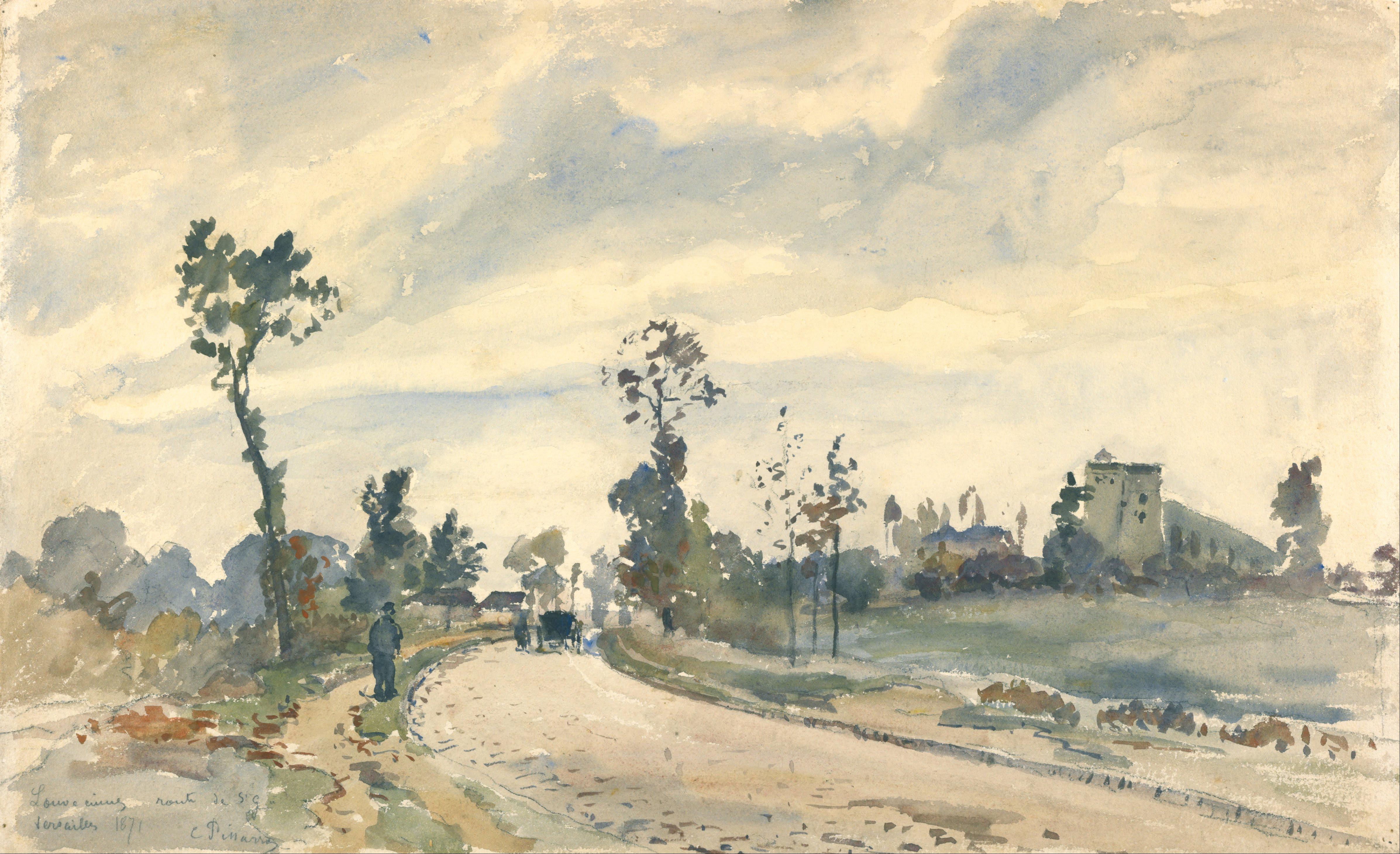 File Camille Pissarro French Louveciennes Route De
