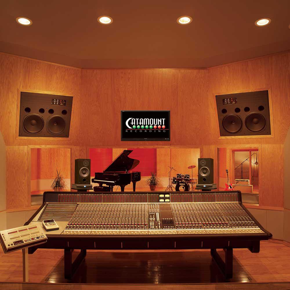 Recording Studio Interior. Recording Studio Lighting