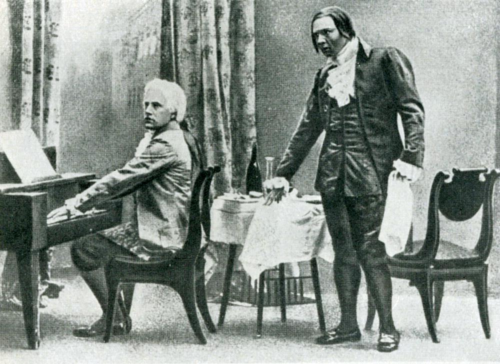 mozart and salieri amadeus versus Wolfgang amadeus mozart:  of amadeus based his play on alexander pushkin's play mozart and salieri, an archetypal study of envy and of mediocrity versus genius.