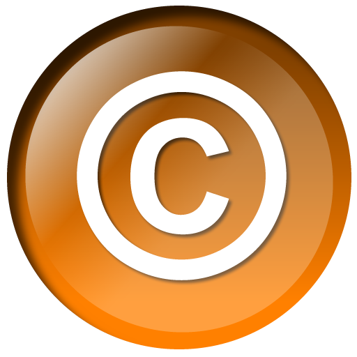 File:Copyright crystal orange.png