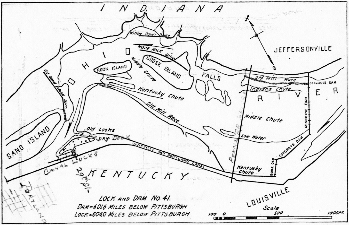 Falls Of The Ohio Map.File Diagram Of Falls Of The Ohio And Portland Canal In 1916 Jpg