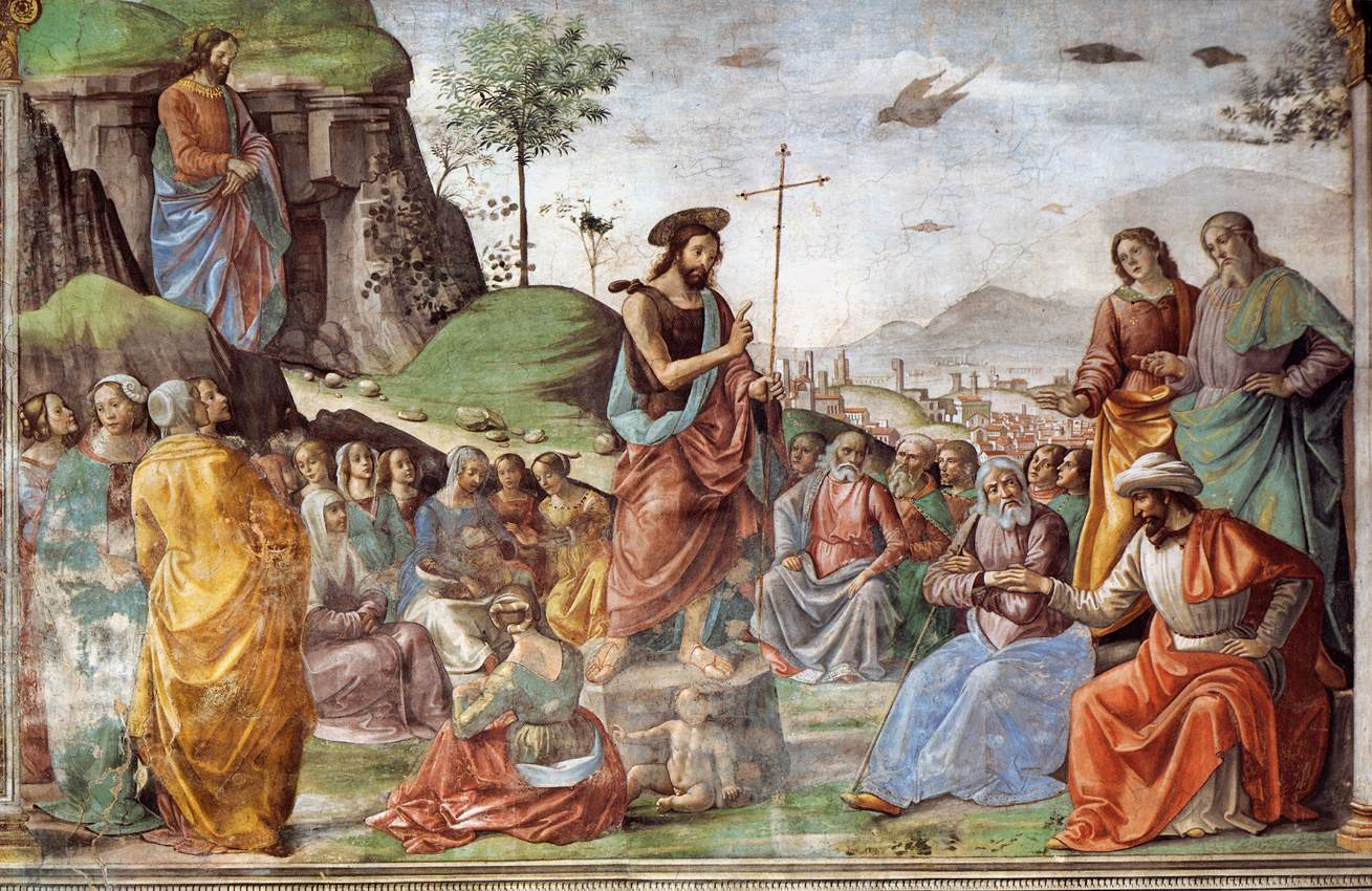a description of christianity which begins with john the baptist Summary of new testament bible books  jesus is baptized by john the baptist  john opens with a description of the word becoming flesh john the baptist.