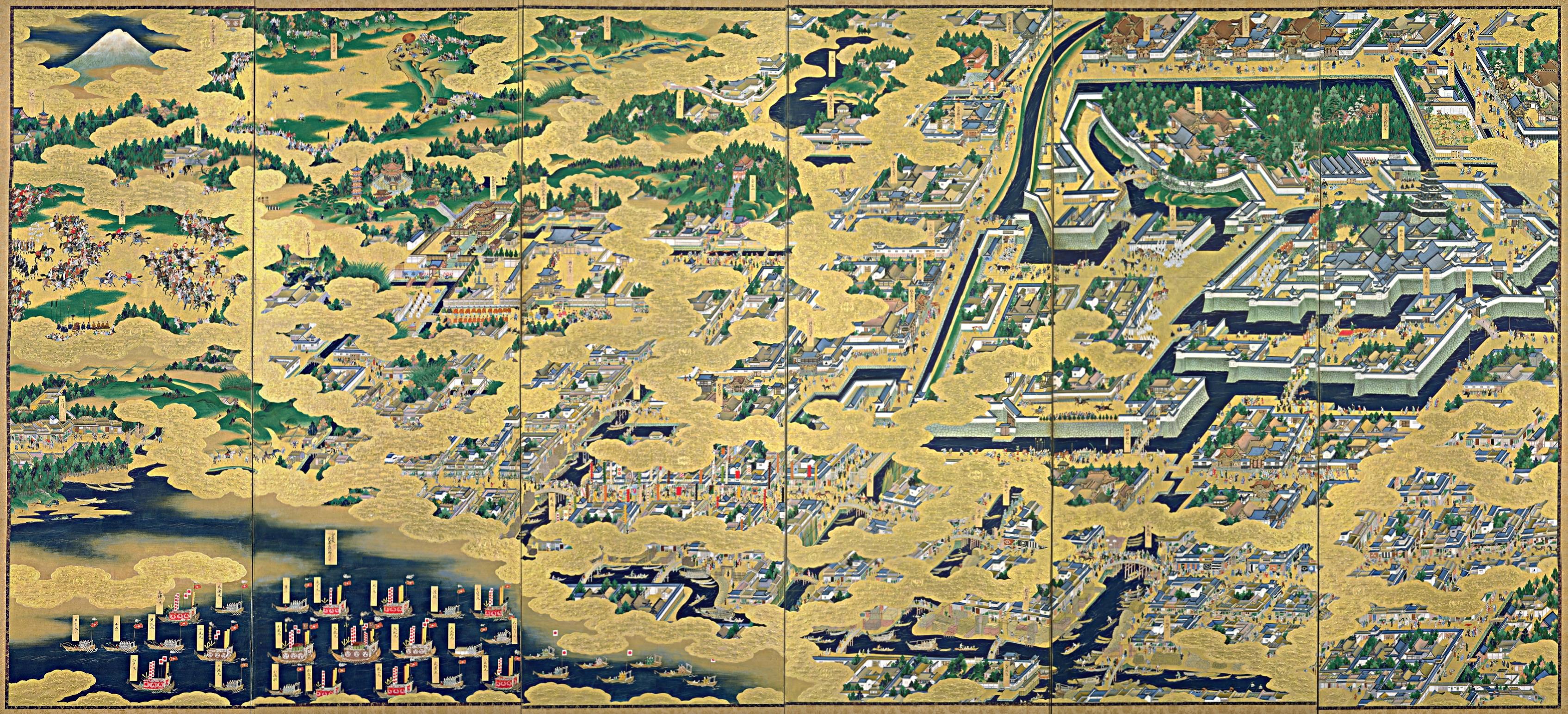 ... 江戸城 です 江戸 図 屏風 の