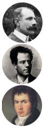 панно из трех небольших портретов мужских лиц