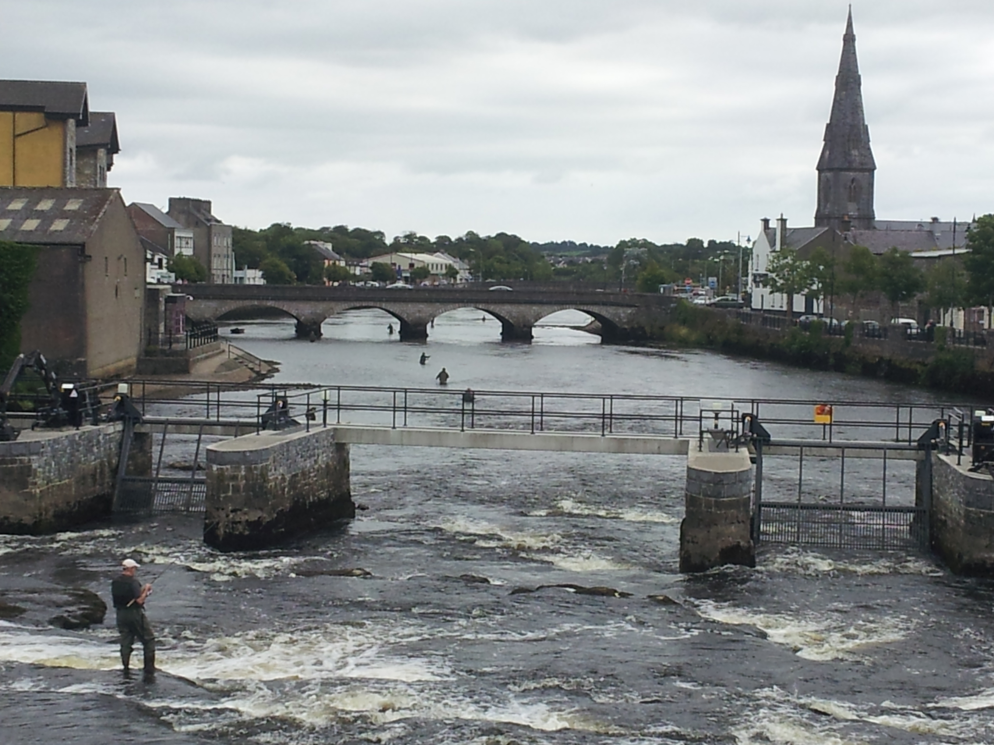 Ballina Ireland  City pictures : Description Fly fishing, River Moy, Ballina, Mayo, Ireland