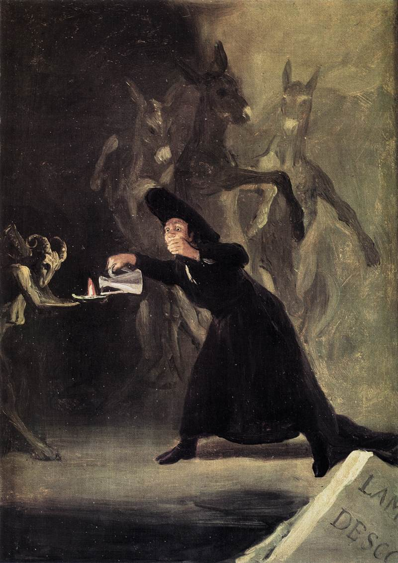 A painting by Goya inspired by one of Zamora's plays ''El Hechizado Por Fuerza''