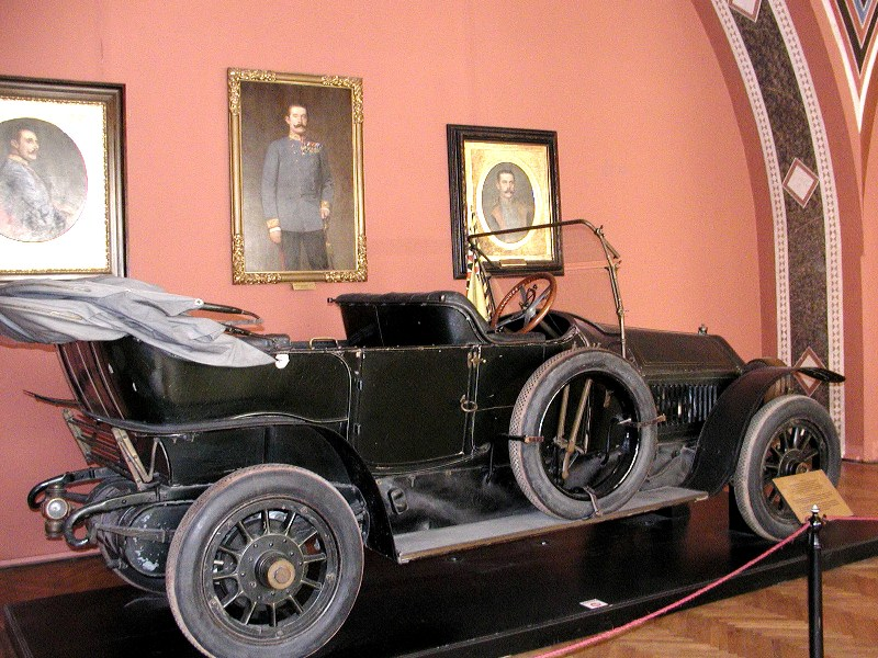 The car in which Franz Ferdinand was assassinated in 1914