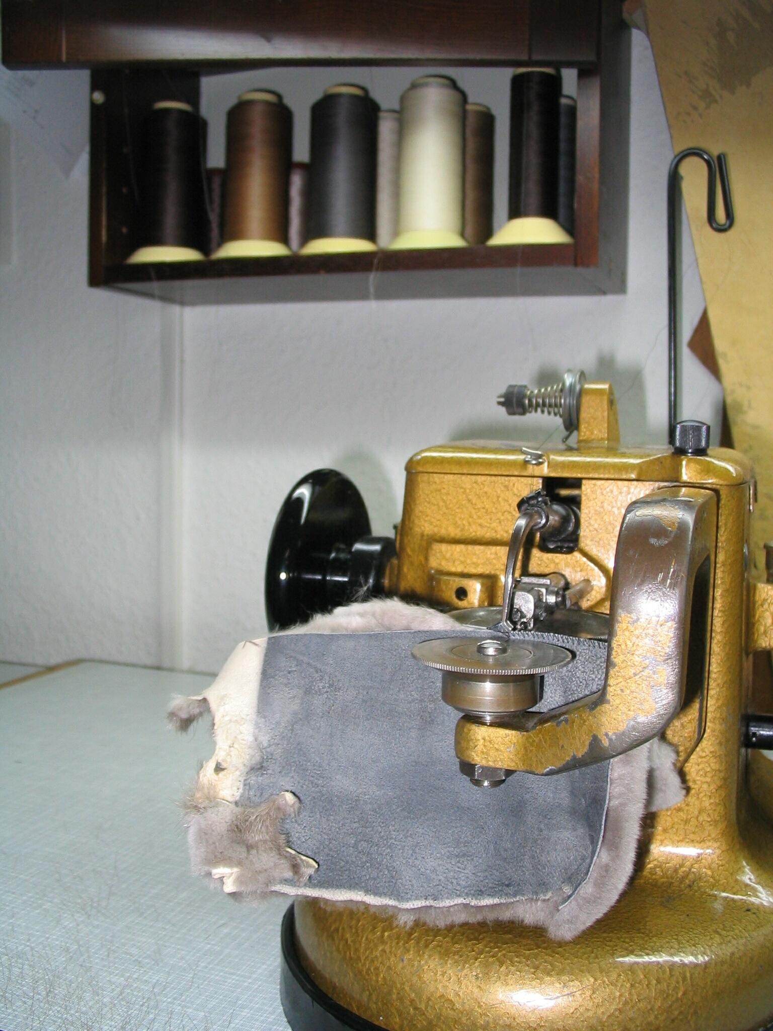 fur sewing machine