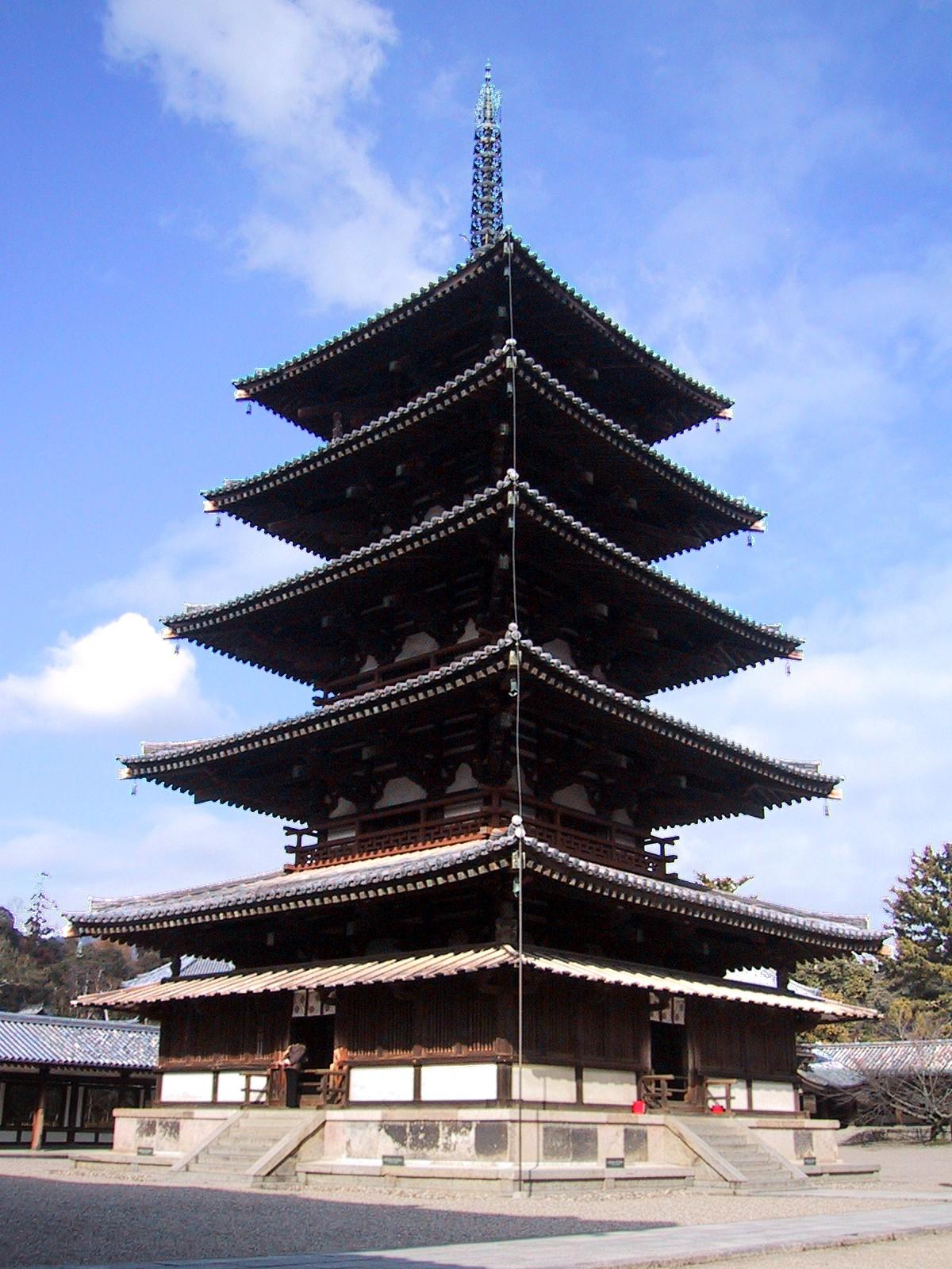Histoire du Japon.  Goju_no_To_(Five_story_Pagoda)_Horyuji