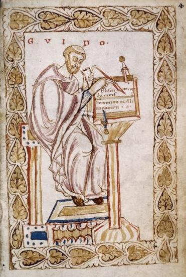 Depiction of Guido de Arezzo