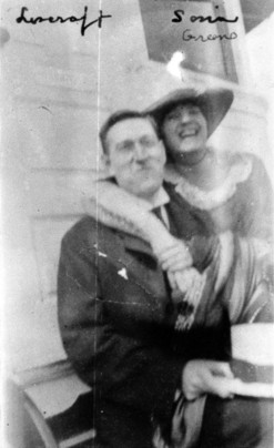 H. P. Lovecraft and Sonia Greene on July 5, 1921. H. P. Lovecraft and Sonia Greene, 5 July 1921.png
