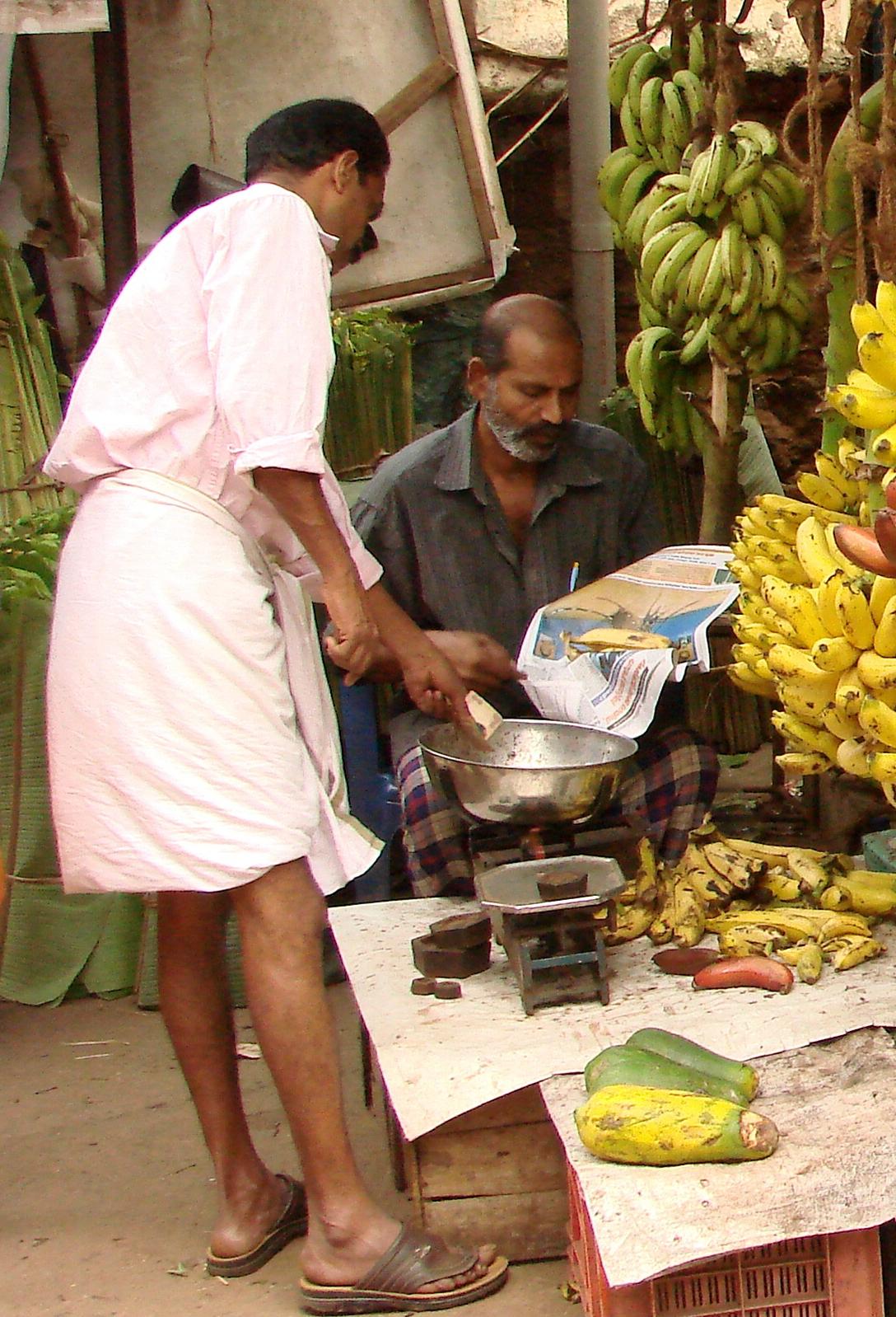 Half Bananas for Sale at Market - Trivandrum - Kerala - India.jpg