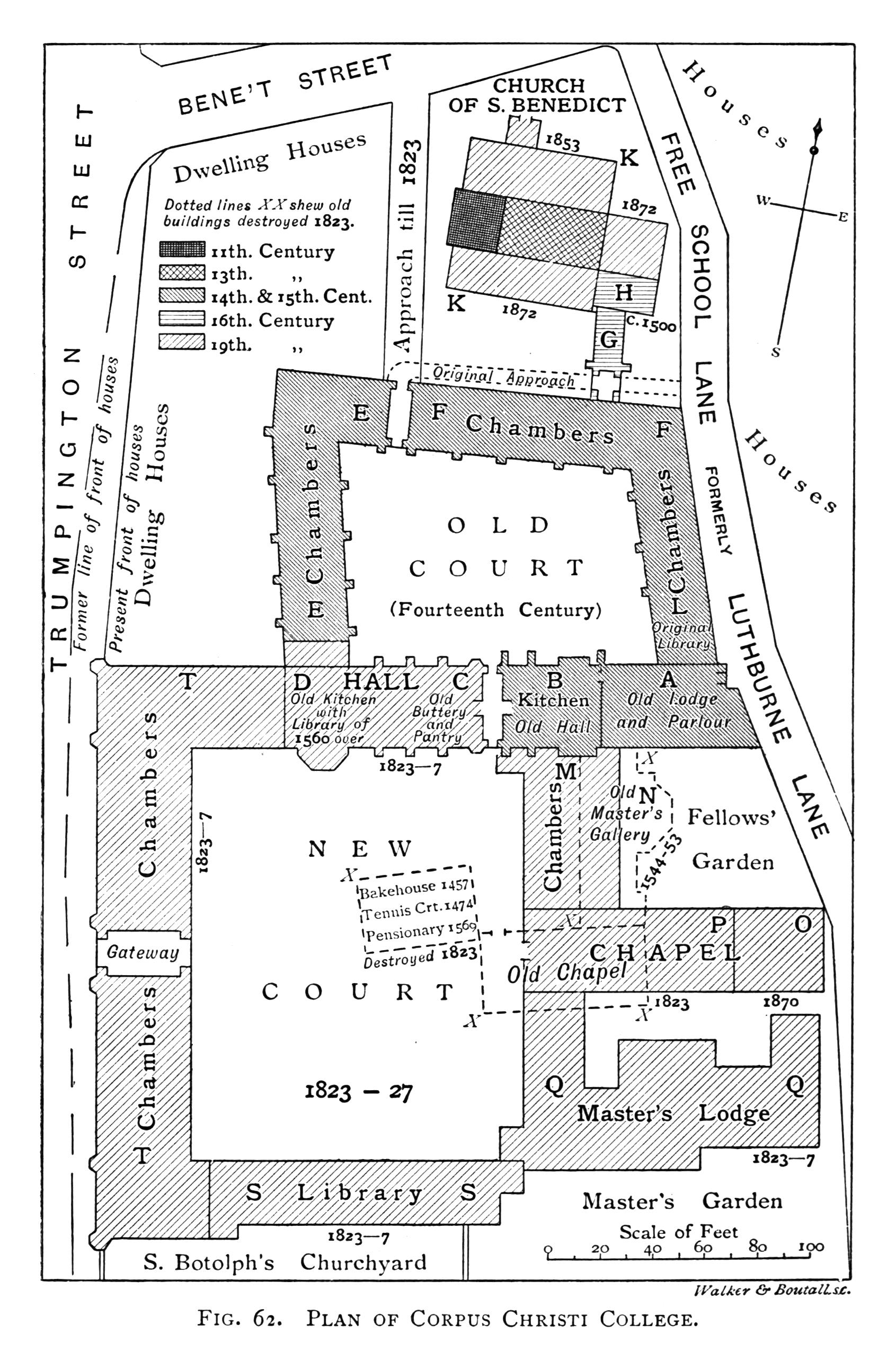 File Historical Plan Of Corpus Christi College Cambridge