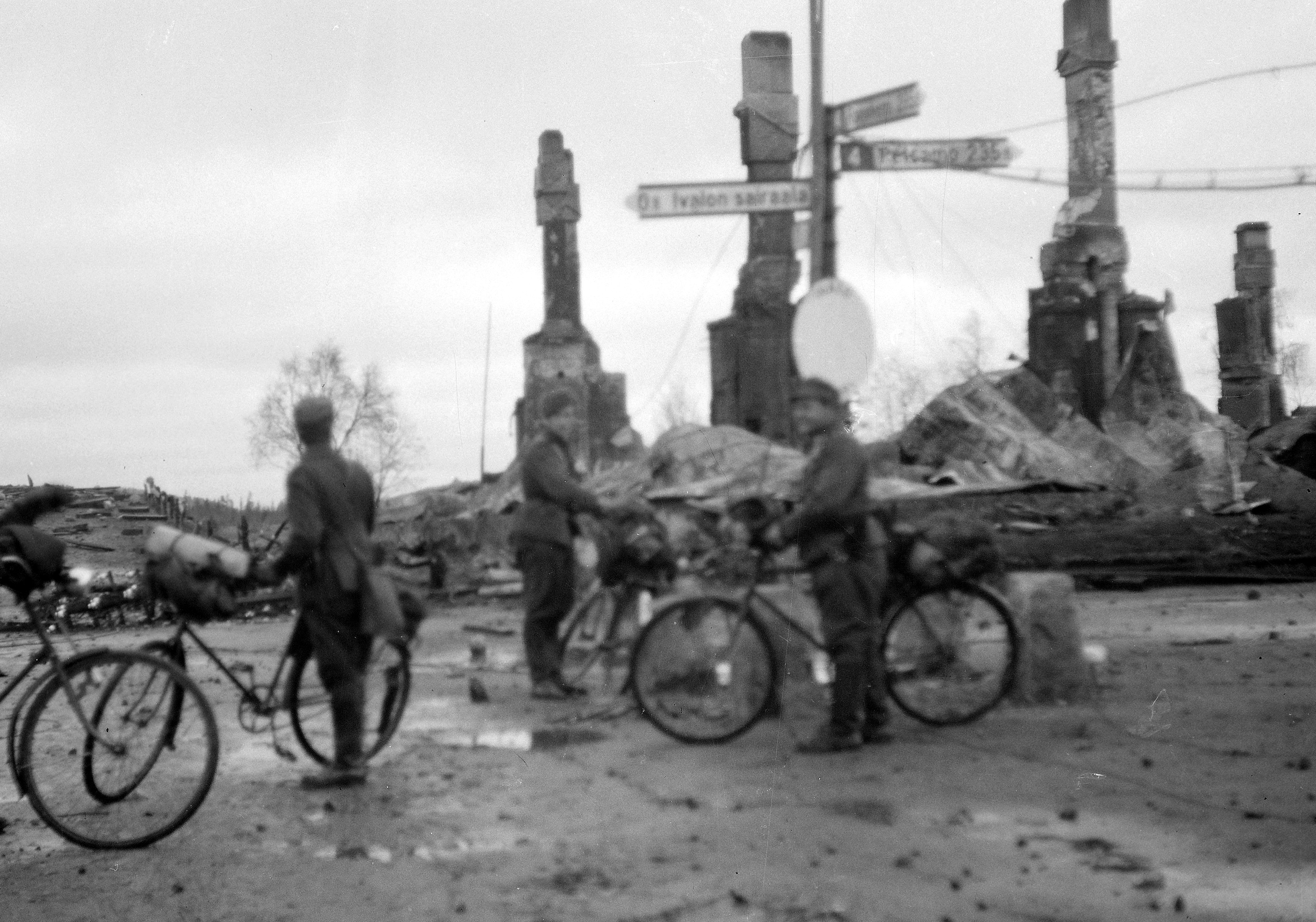 Ivalo, after it's destruction by the Germans