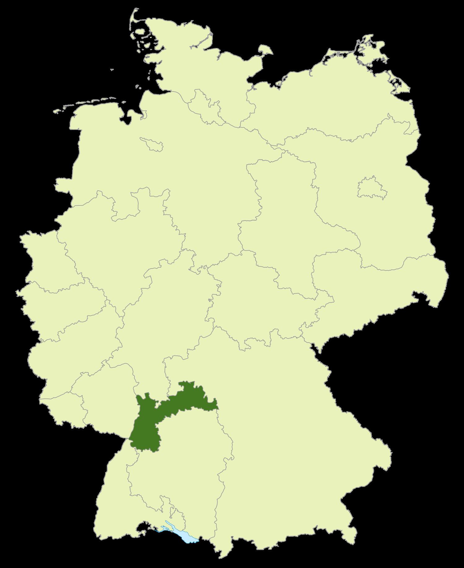 Gebiet der Verbandsliga Baden