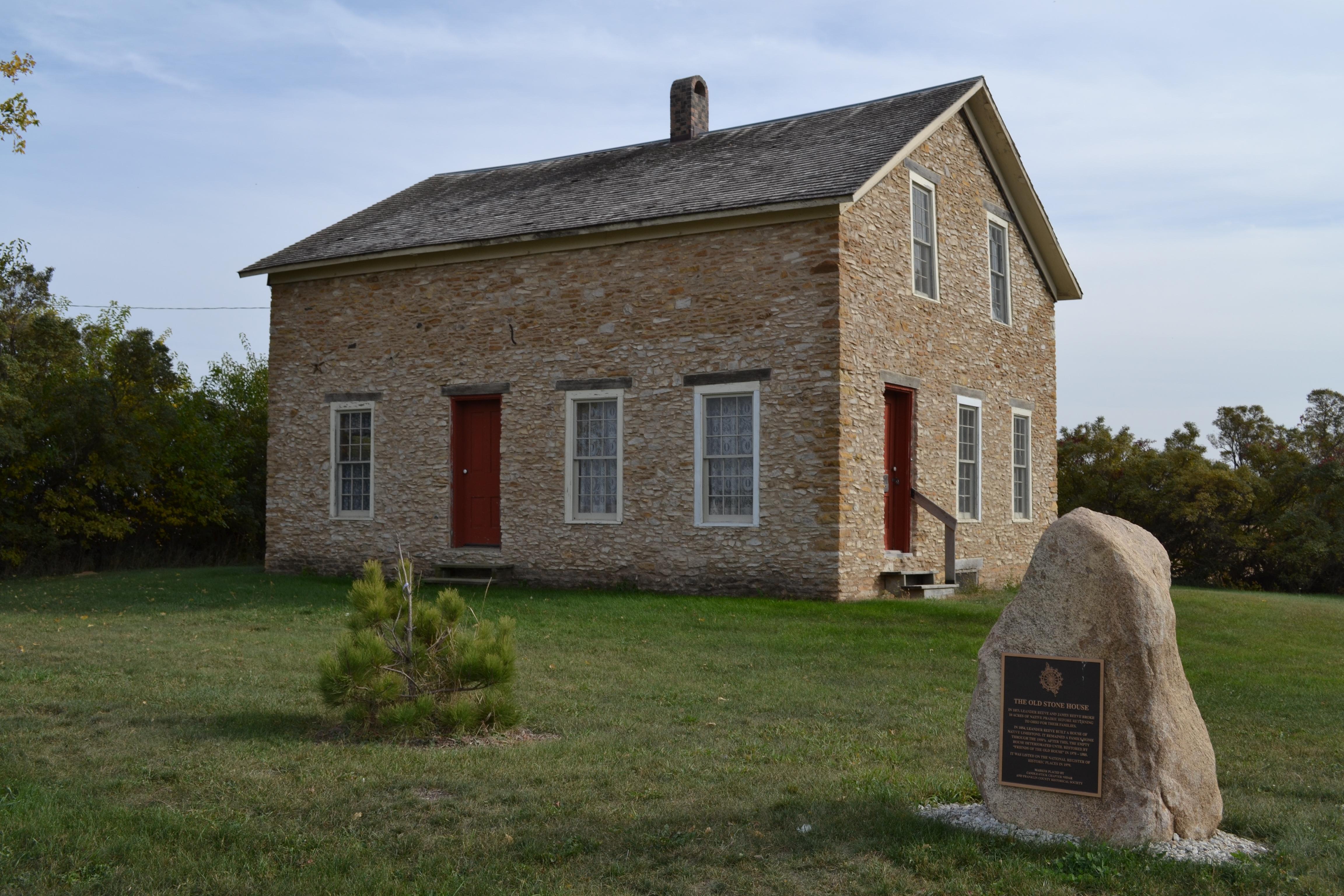 File Leander Reeve Stone House Rural Hampton Iowa JPG