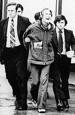 BNDD agents Don Strange (right) and Howard Safir (left) arrest Leary in 1972.