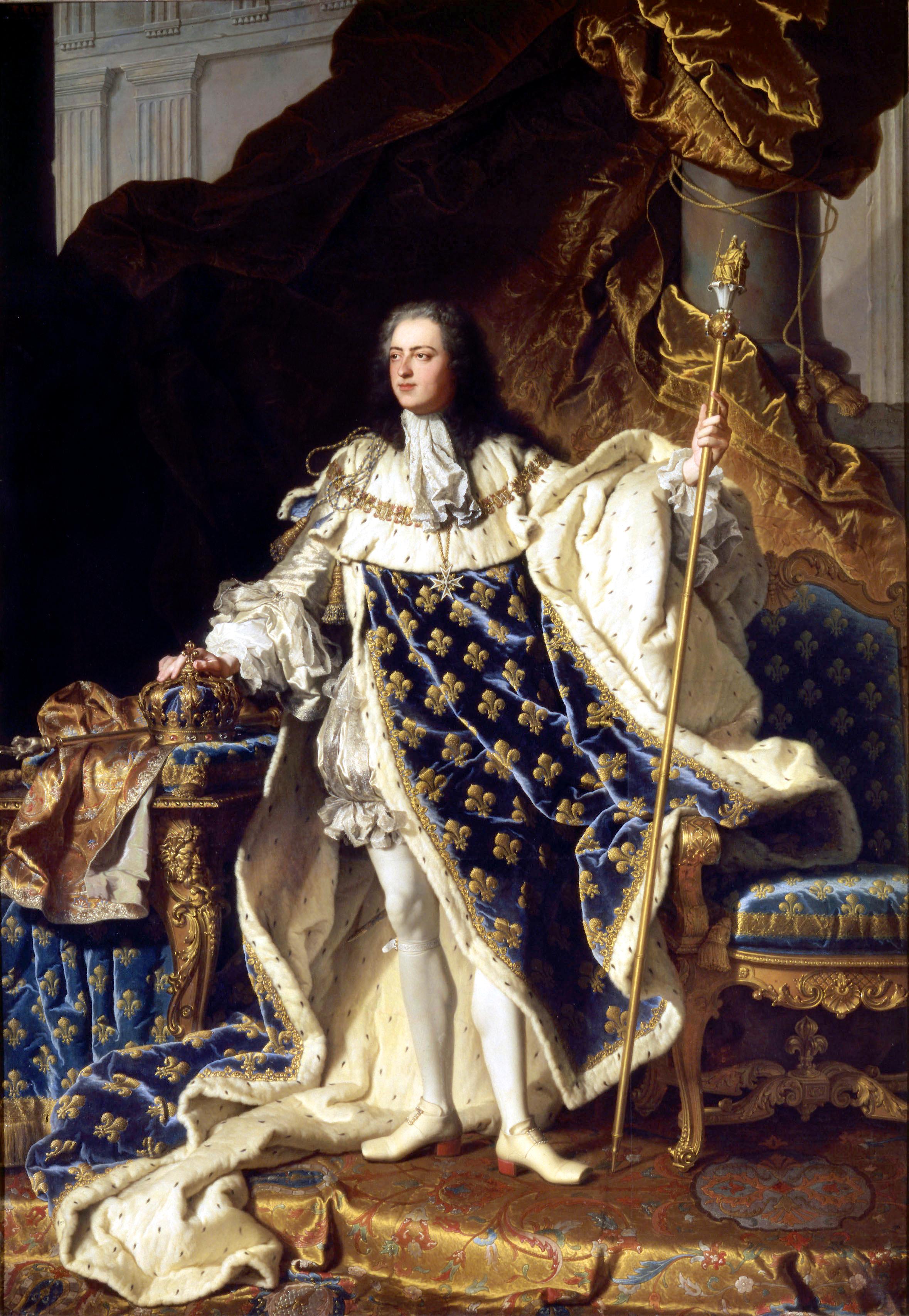 Depiction of Luis XV de Francia
