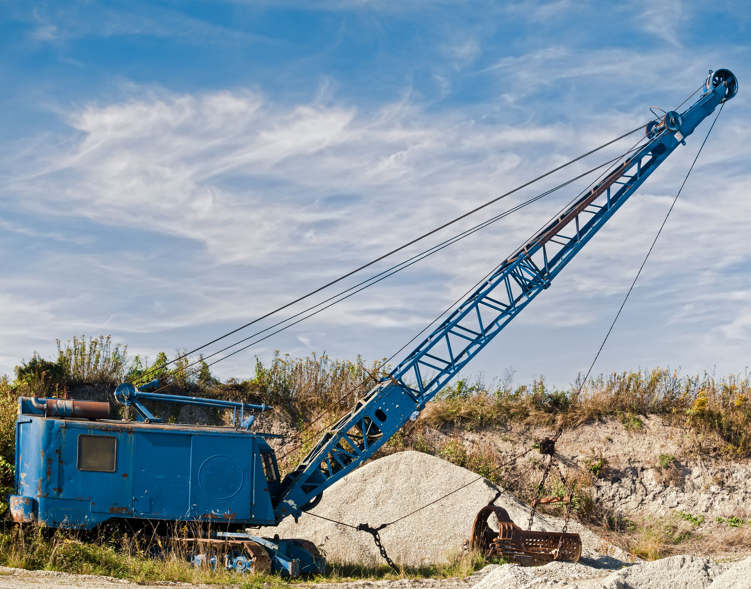 Dragline , Heavy Equipment Used in Construction