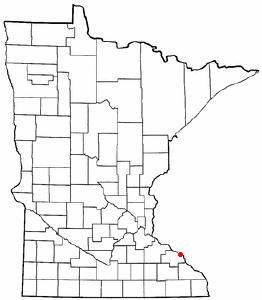 Location of Wabasha, Minnesota