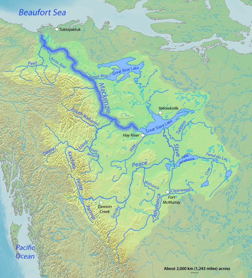river map with canada - photo #15