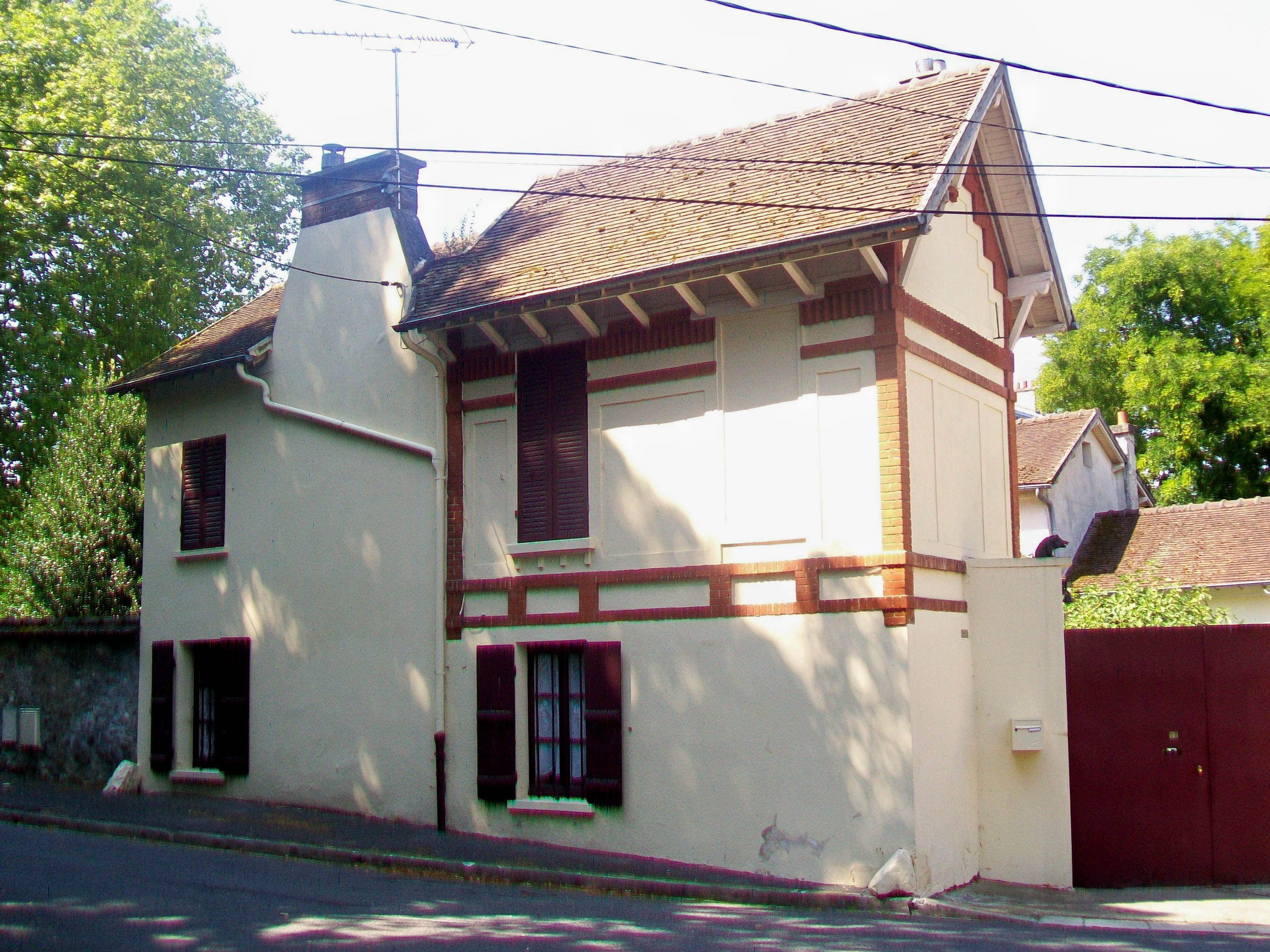 File Maffliers (95), maison du garde du manoir de la Tuilerie, rue du Bois Carreau jpg  # Maison En Bois Gard