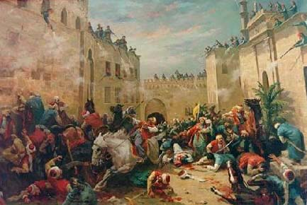 Massacre of the Mamelukes at the Cairo citadel in 1811. Mamluks, Horace Vernet.jpg