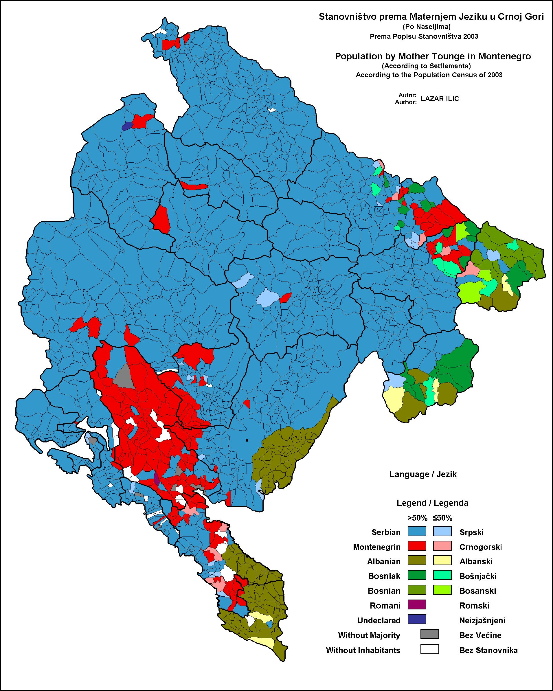 montenegrin language wikipedia