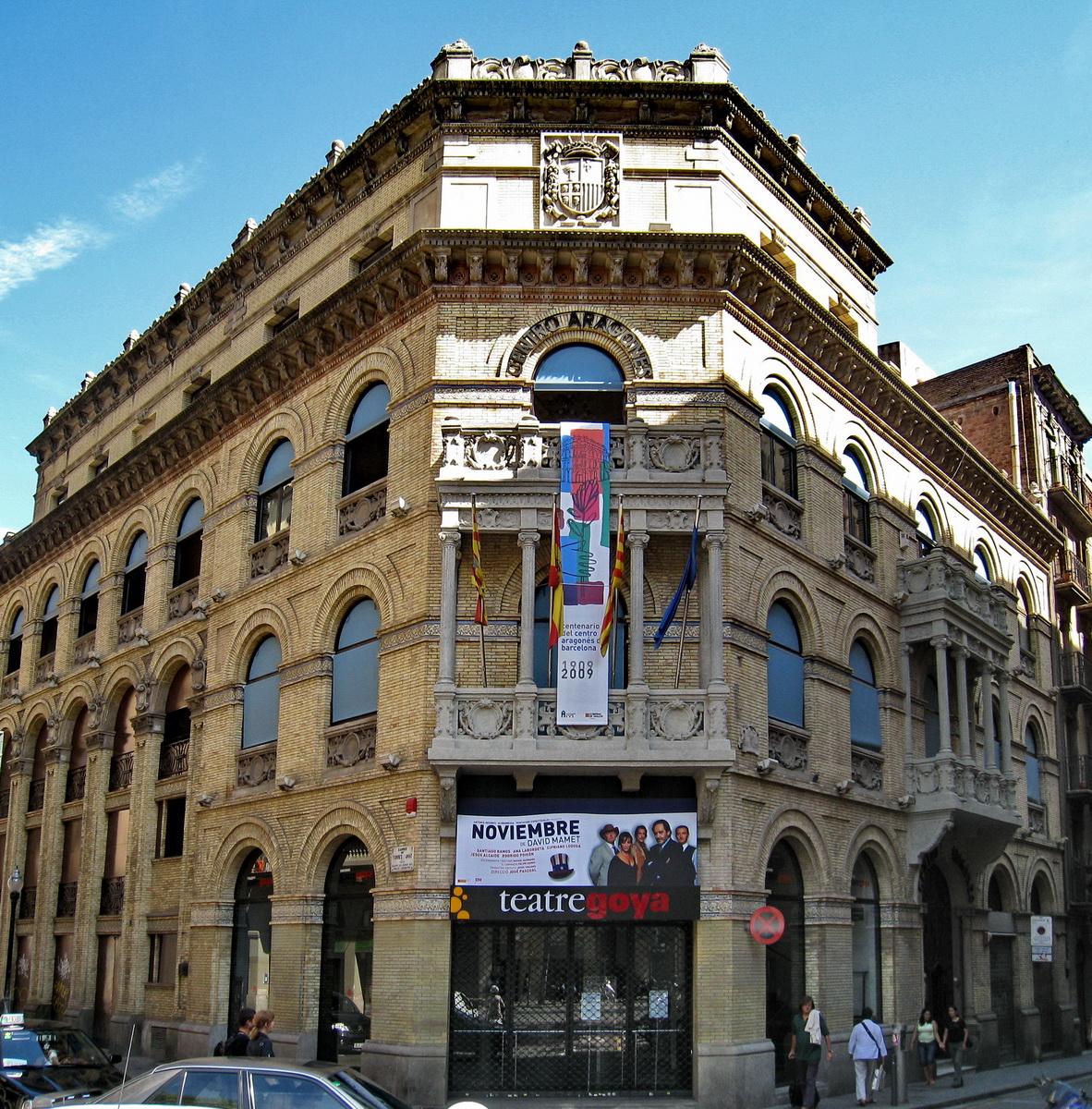 Teatro Goya de Barcelona, en el que debutó Gardel el 5 de noviembre de 1925, una ciudad que estableció un intenso vínculo con el cantor.