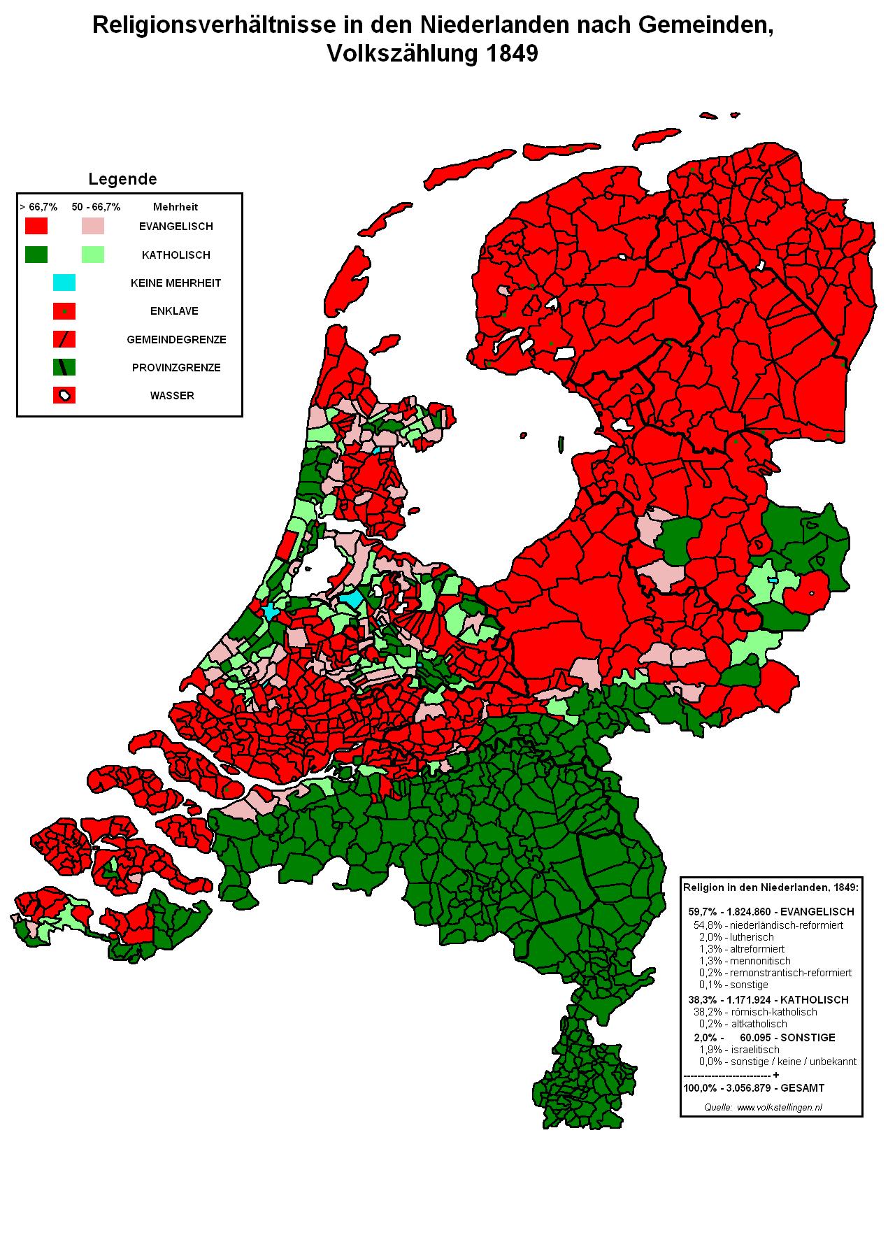 Niederlande Map