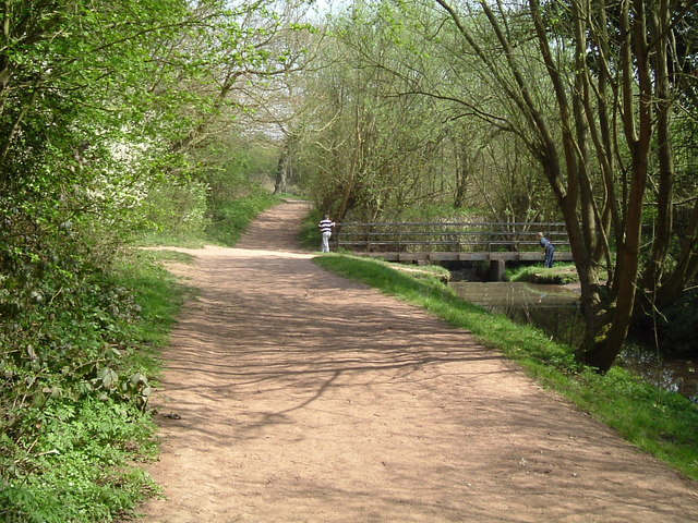 Paths and Bridge in Woodgate Valley Country Park - geograph.org.uk - 495924