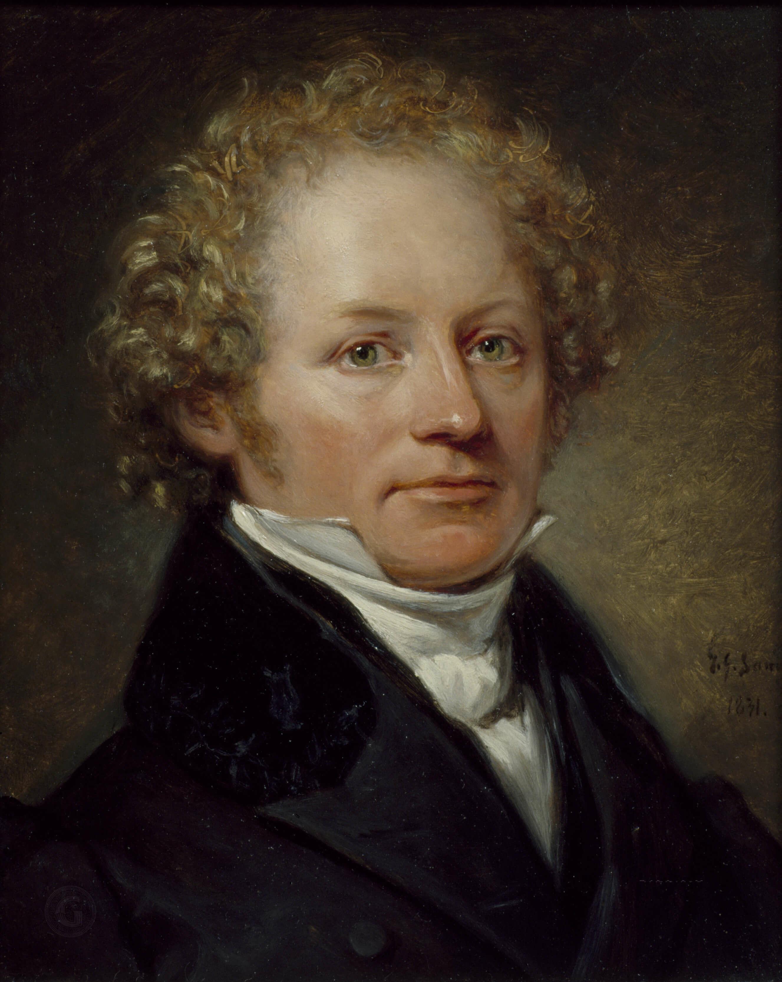 Per Daniel Amadeus Atterbom porträtterad 1831 av Johan Gustaf Sandberg