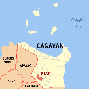 Map of Cagayan showing the location of Piat