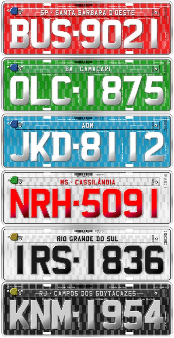 Vehicle registration plates of Brazil - Wikipedia