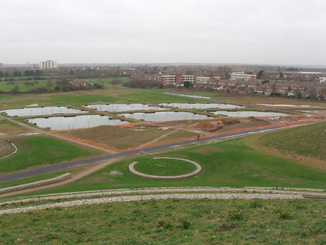 Pools at Northala Fields - geograph.org.uk - 670488