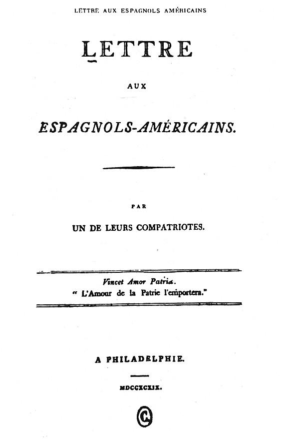 Carta A Los Españoles Americanos Wikipedia La