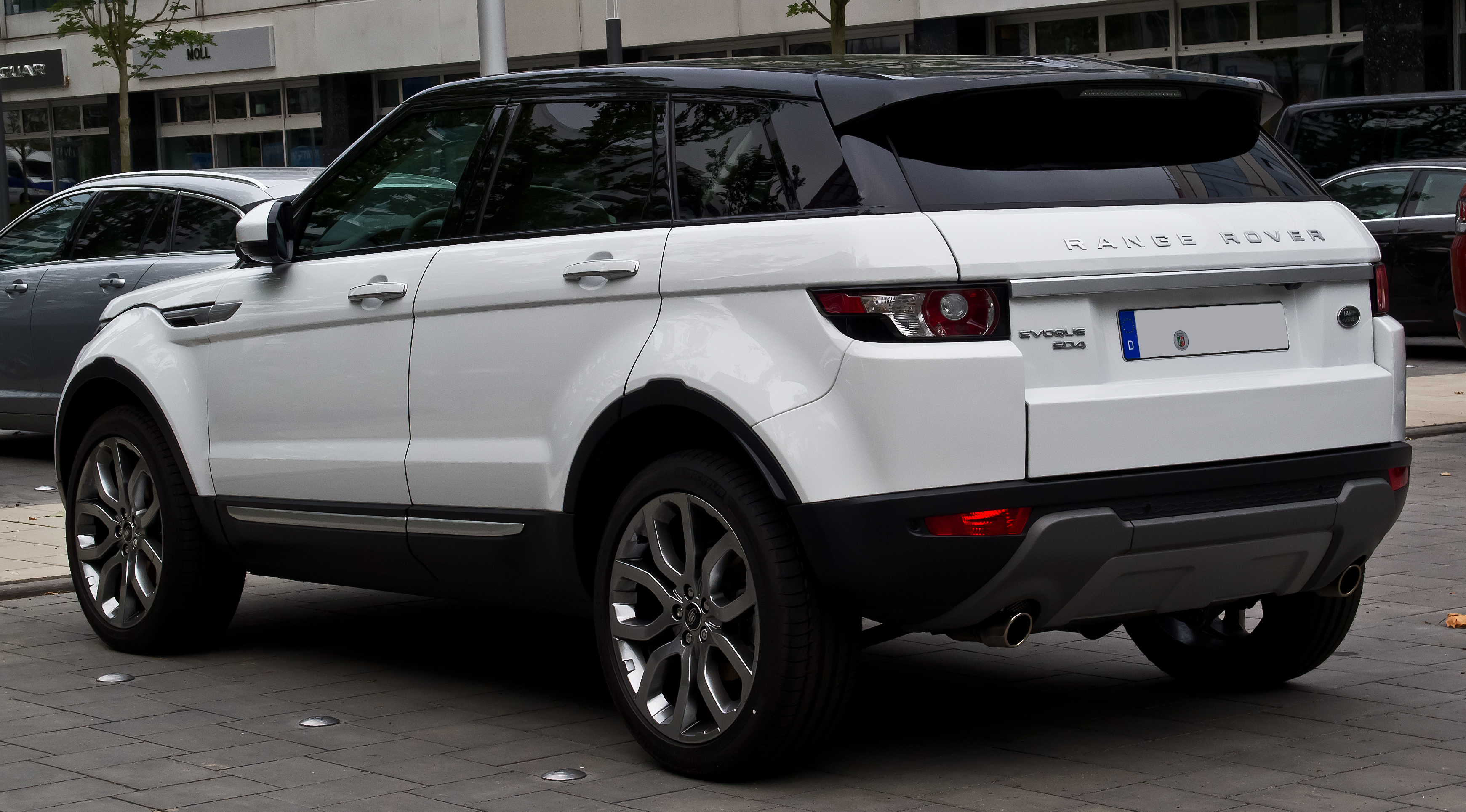 file range rover evoque sd4 4wd prestige heckansicht 12 juli 2014 d wikipedia. Black Bedroom Furniture Sets. Home Design Ideas