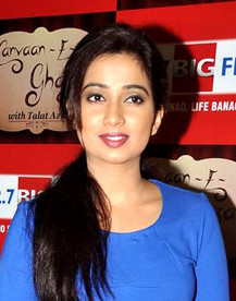 Shreya Ghoshal at the 'Carvaan-E-Ghazal' celebrations