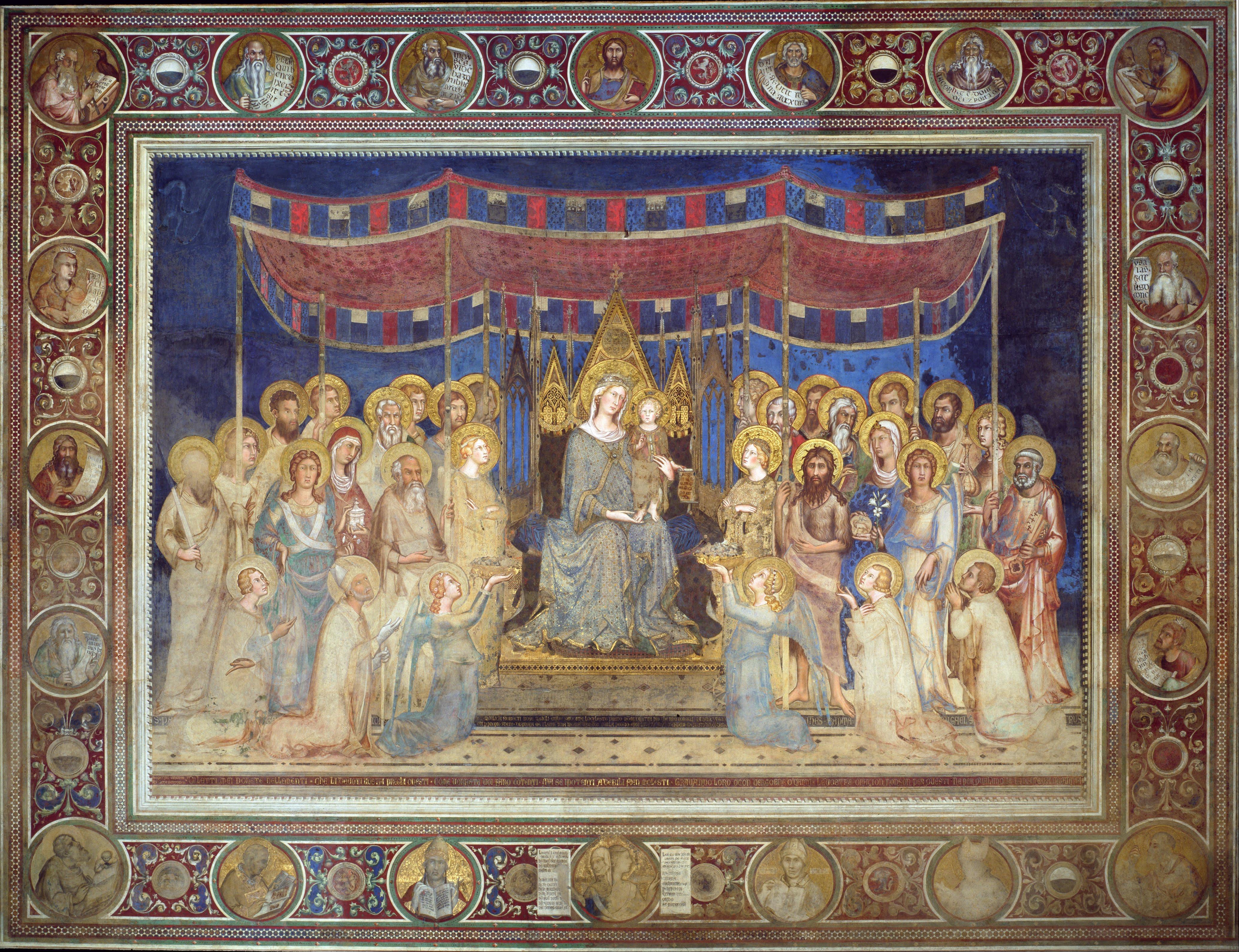 Simone Martini, Maestà, 1316, Sala del Mappamondo, Palazzo Pubblico, Siena