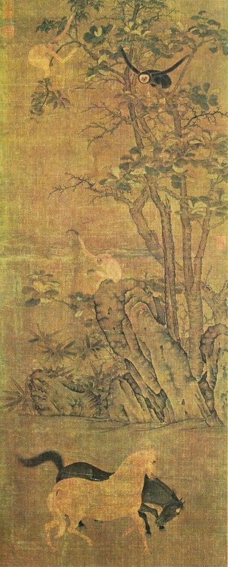 Singes et chevaux attribué à Han Gan.jpg