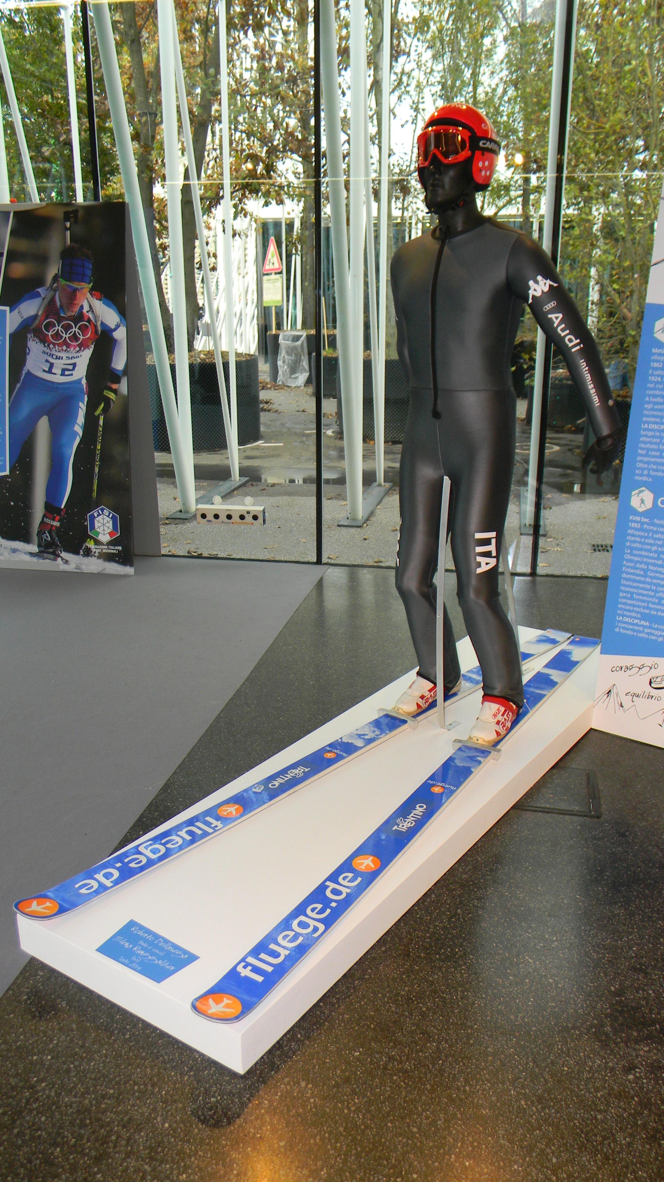 Ski jumping equipment Milan 2014 JPG