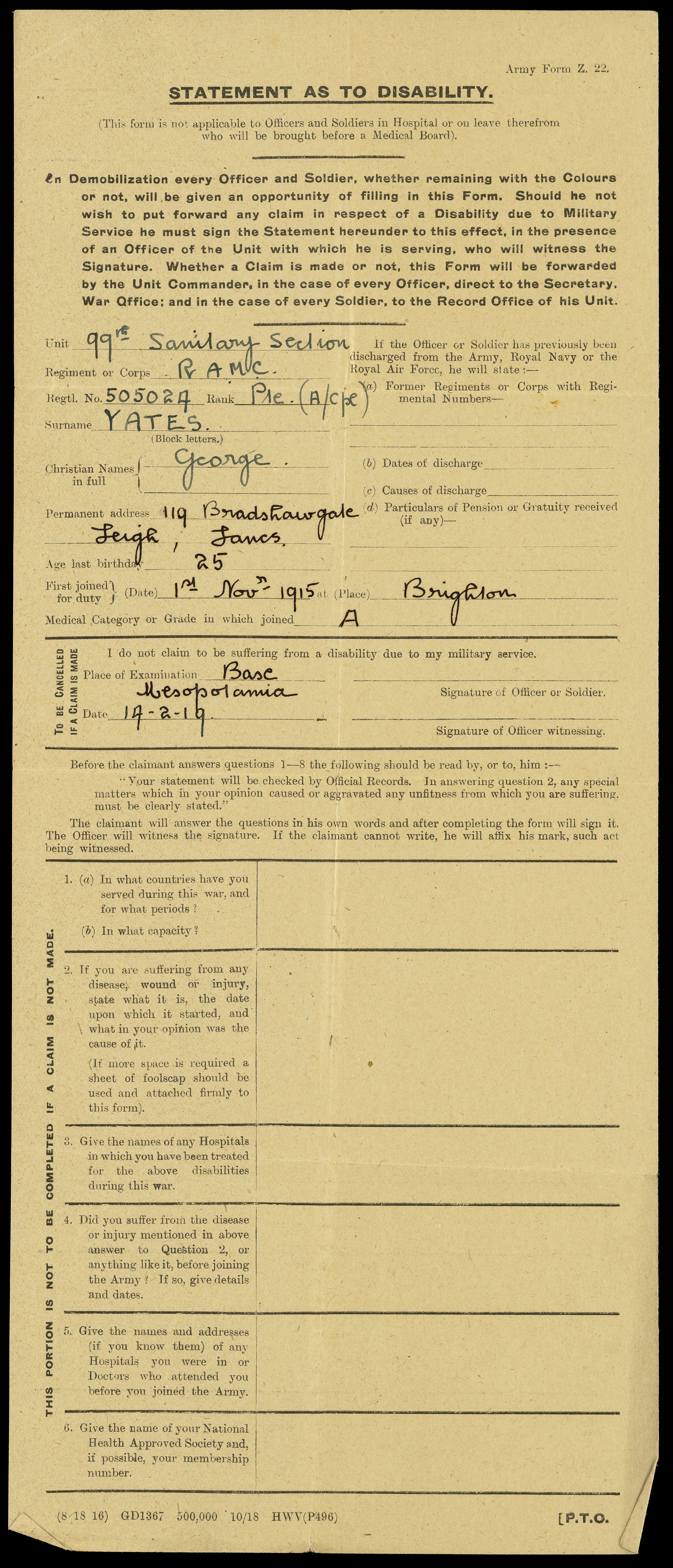 File:Statement as to disability on demobilization Wellcome